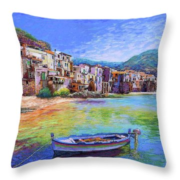 Cefalu Sicily Italy Throw Pillow