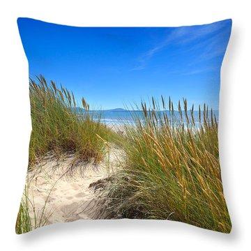 Cefn Sidan Beach 2 Throw Pillow
