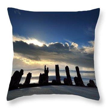 Cefn Sidan Beach 5 Throw Pillow