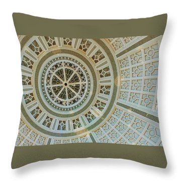 Ceiling Detail Throw Pillow by Sandy Taylor