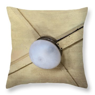 Ceiling Light On Antique Train Throw Pillow