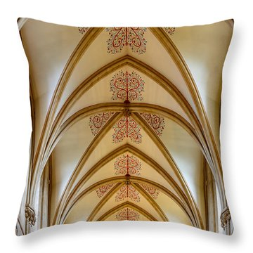 Ceiling, Wells Cathedral. Throw Pillow