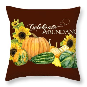 Vegetable Stands Throw Pillows