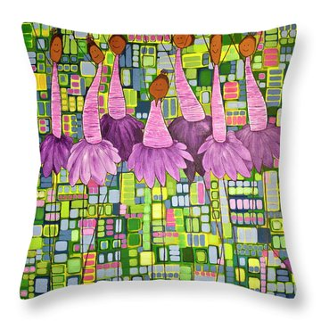 Throw Pillow featuring the painting Celebrate by Donna Howard