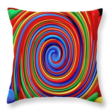 Celebrate Life And Have A Swirl Throw Pillow by Carol F Austin