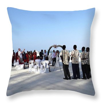 Celebrate Marriage In Kenya Throw Pillow