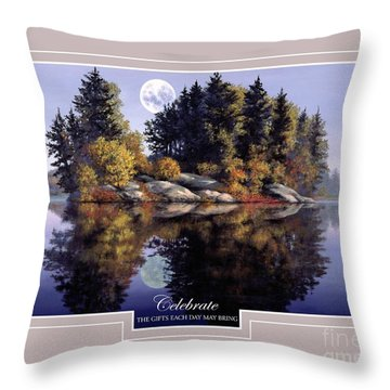 Throw Pillow featuring the painting Celebrate by Michael Swanson