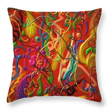 Throw Pillow featuring the painting Celebrate The Moment by Kevin Caudill
