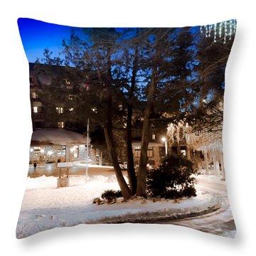 Celebrate The Winter Night Throw Pillow
