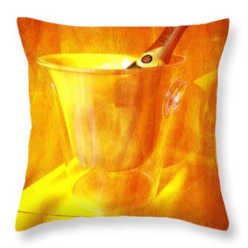 Celebrate With Champagne Throw Pillow