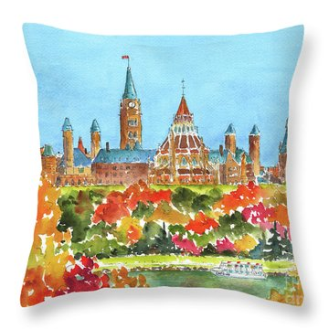 Celebrating Canada 150 Caps 20 Throw Pillow