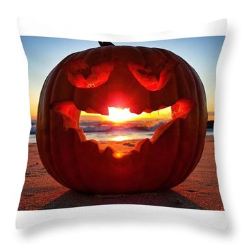 Pumpkin Light Throw Pillow