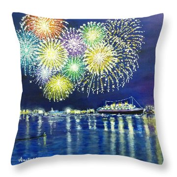 Celebrating In The Lbc Throw Pillow