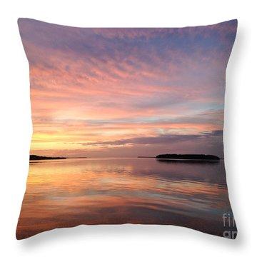 Celebrating Sunset In Key Largo Throw Pillow