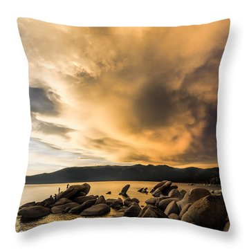 Celebrating Sunset Throw Pillow