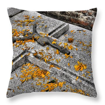 Throw Pillow featuring the photograph Celebrating The Day Of The Dead by Jim Walls PhotoArtist
