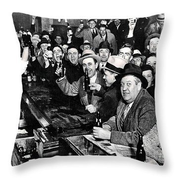 Celebrating The End Of Prohibition Throw Pillow