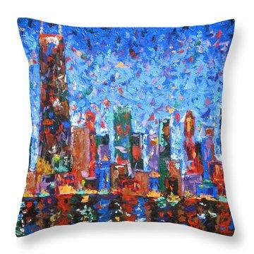 Celebration City Throw Pillow