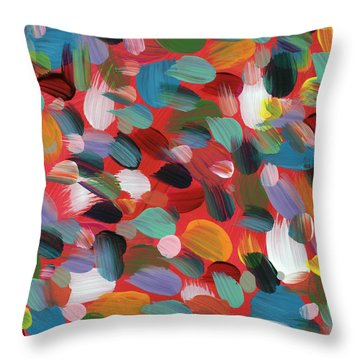 Celebration Day- Art By Linda Woods Throw Pillow