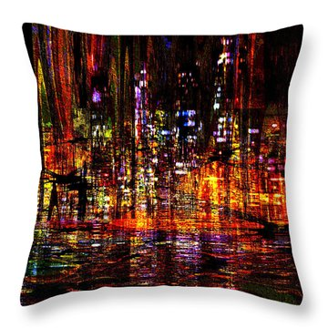 Celebration In The City Throw Pillow