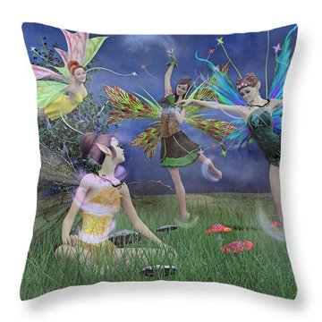 Celebration Of Night Alice And Oz Throw Pillow by Betsy Knapp