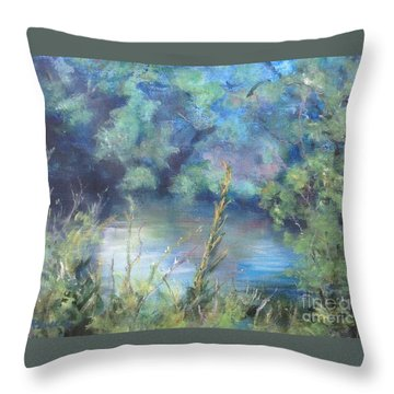 Throw Pillow featuring the painting Celebration Of Solitude by Mary Lynne Powers