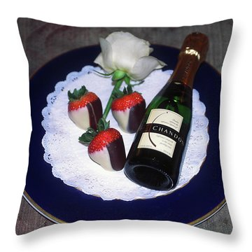 Celebration Plate Throw Pillow by Sally Weigand