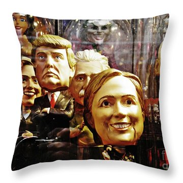 Celebrity Bobbleheads 1 Throw Pillow