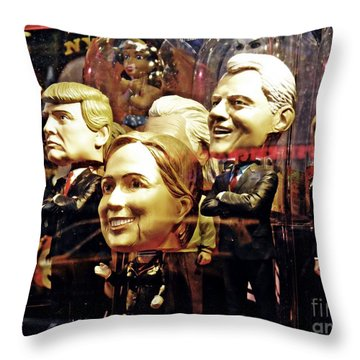 Celebrity Bobbleheads 2 Throw Pillow