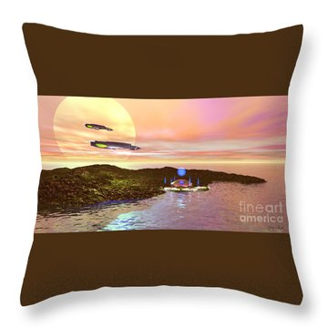 Celeron 3 Throw Pillow by Corey Ford