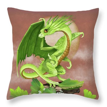 Throw Pillow featuring the digital art Celery Dragon by Stanley Morrison