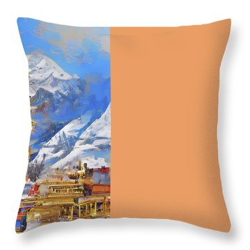 Celestial Throw Pillow by Andreas Thust