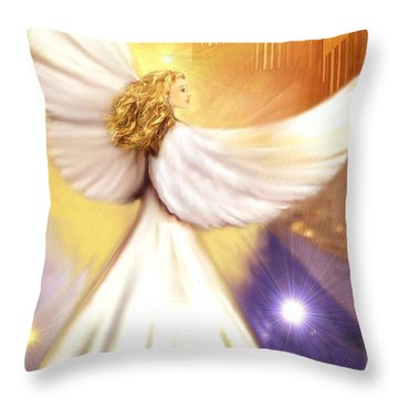 Celestial Angel Throw Pillow