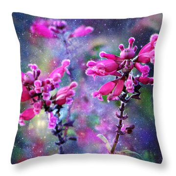 Celestial Blooms-2 Throw Pillow by Kathy M Krause