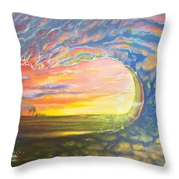 Celestial Break Throw Pillow