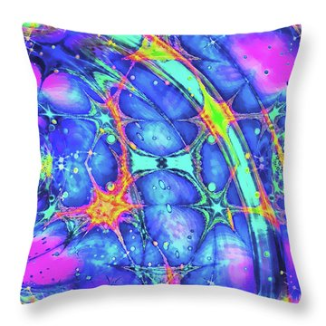 Throw Pillow featuring the digital art Celestial Burst by Wendy J St Christopher