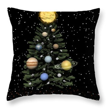 Celestial Christmas Throw Pillow by Michele Wilson