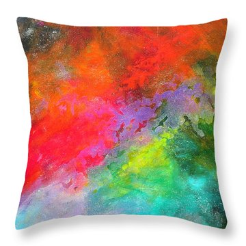 Fantasies In Space Series Painting. Celestial Concerto. Painting.  Throw Pillow