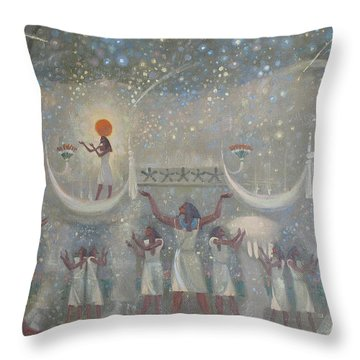 Celestial Cow Throw Pillow
