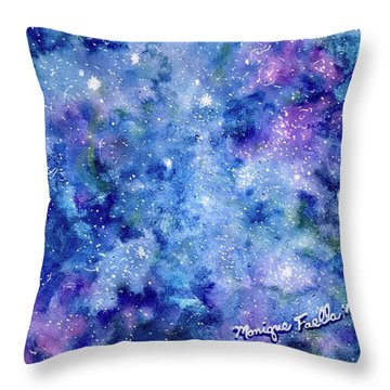 Throw Pillow featuring the painting Celestial Dreams by Monique Faella