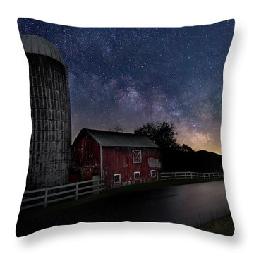 Throw Pillow featuring the photograph Celestial Farm by Bill Wakeley