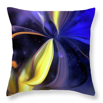 Celestial Flower Throw Pillow