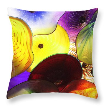 Celestial Glass 1 Throw Pillow by Xueling Zou