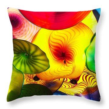 Celestial Glass 2 Throw Pillow by Xueling Zou
