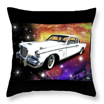 Celestial Hawk Throw Pillow