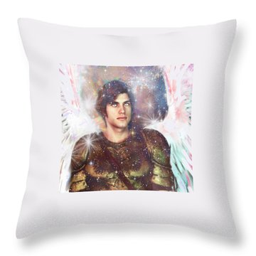 Throw Pillow featuring the painting Celestial Light by Suzanne Silvir