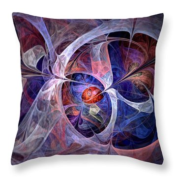 Throw Pillow featuring the digital art Celestial North - Fractal Art by NirvanaBlues