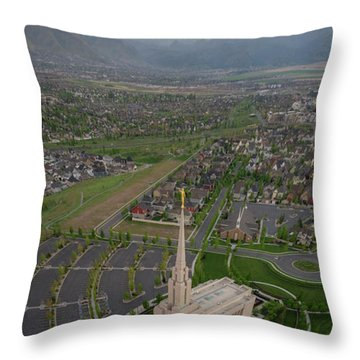 Throw Pillow featuring the photograph Celestial Perspective by Dustin LeFevre
