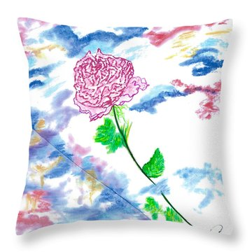 Celestial Rose Throw Pillow