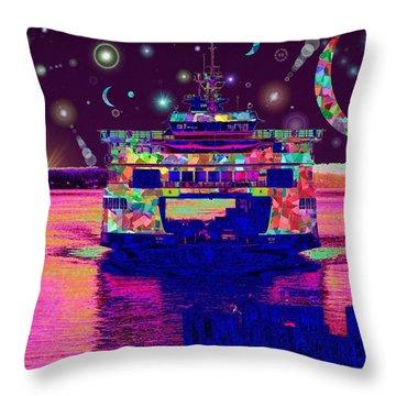 Celestial Sailing Throw Pillow by Tim Allen
